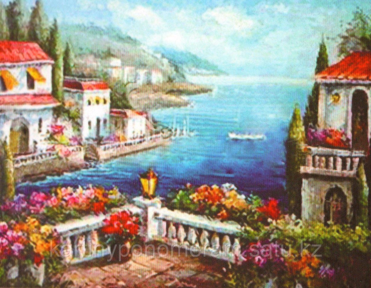 """Картины по номерам  - Алматы,   """"Цветочная терраса"""""""