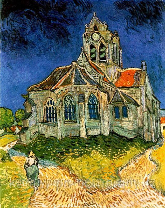 """Картины по номерам  - Алматы, """"Церковь в Овере. Ван Гог"""""""