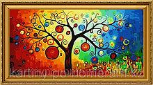"Картины по номерам  - Алматы, ""Дерево богатства""80х160см"