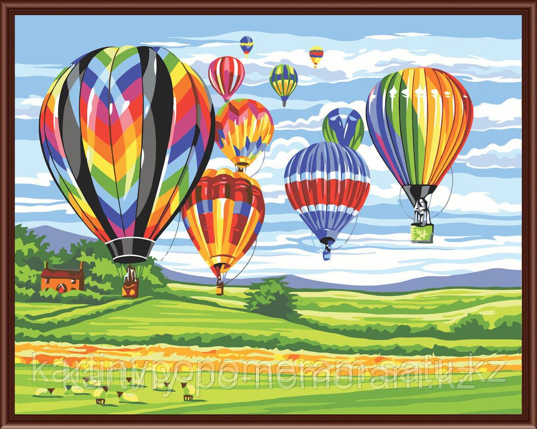 "Картины по номерам  - Алматы, ""Воздушные шары"""