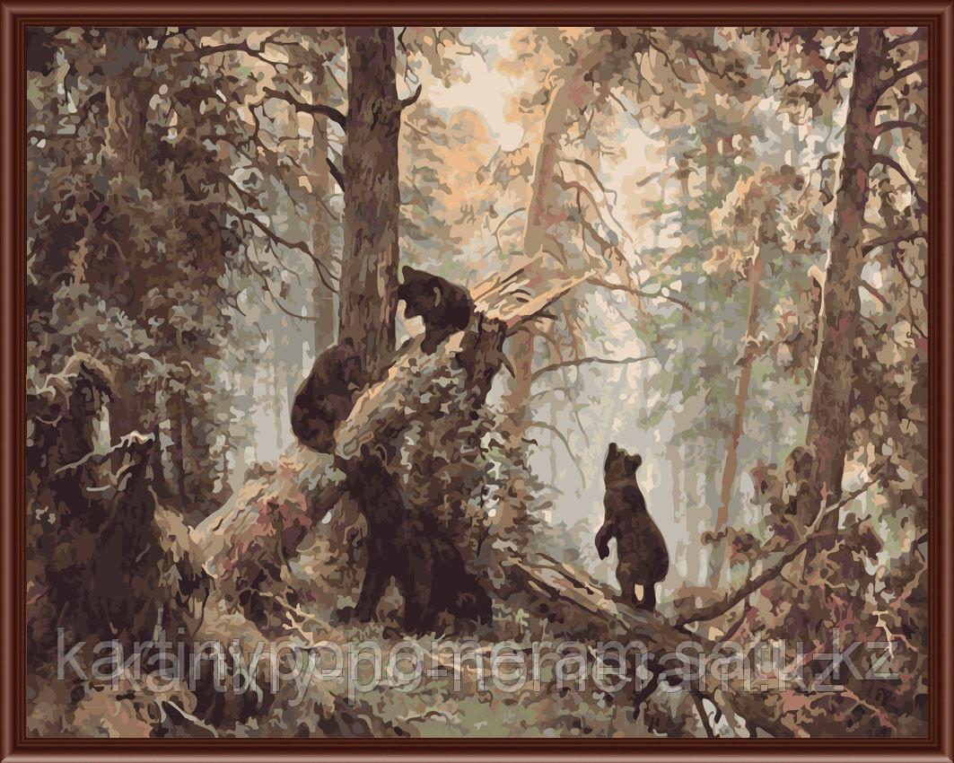"""Картины по номерам  - Алматы,  И.Шишкин """"Утро в сосновом лесу"""""""