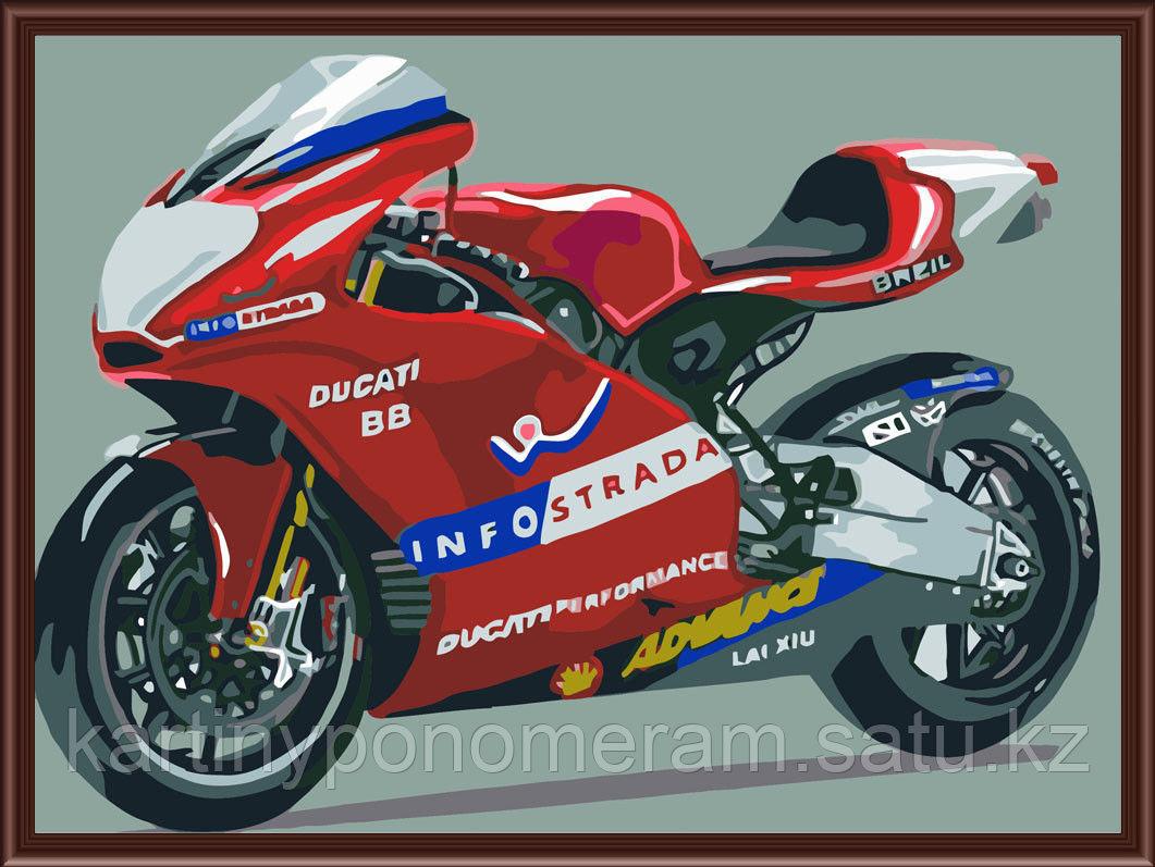 "Картины-раскраски по номерам,  ""Мотоцикл Ducati"""