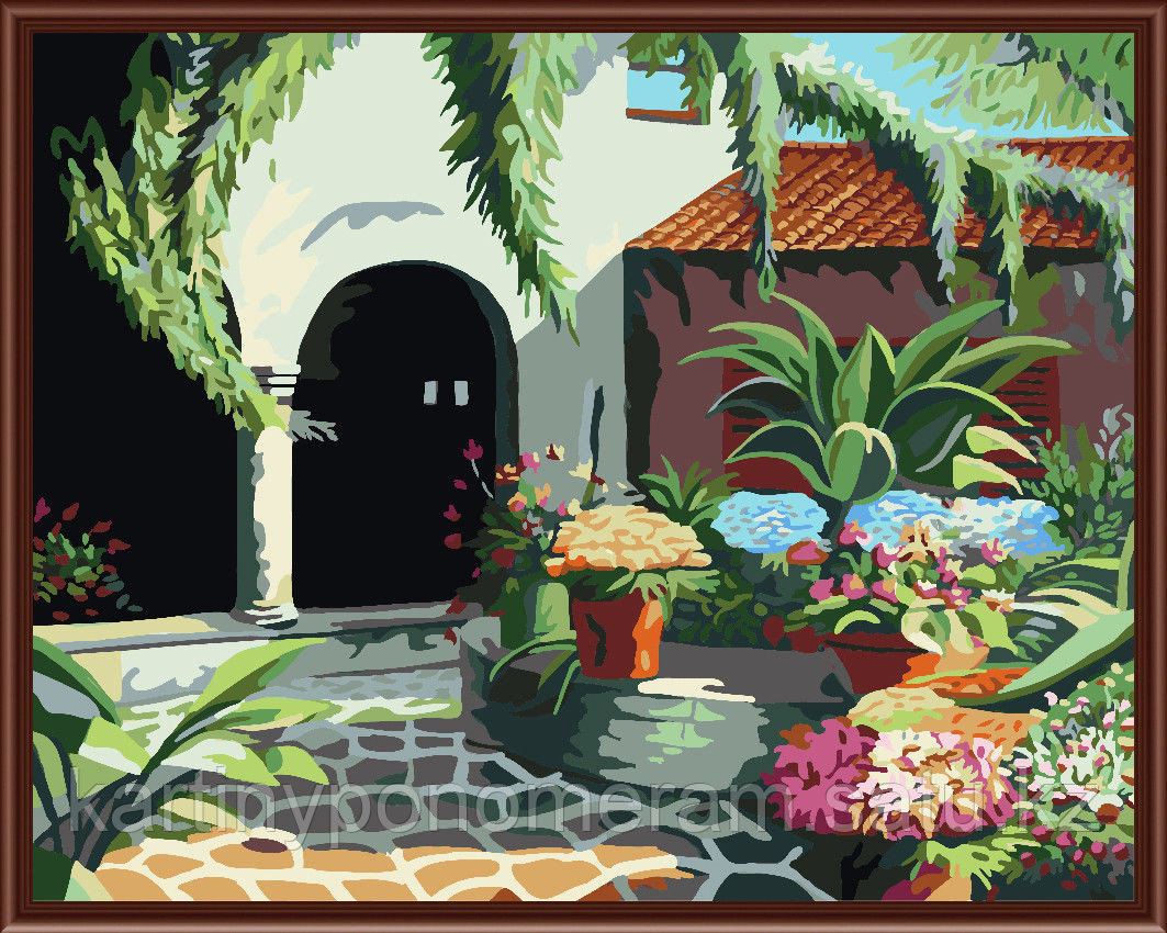 "Картина по номерам ""Марокканский дворик"""