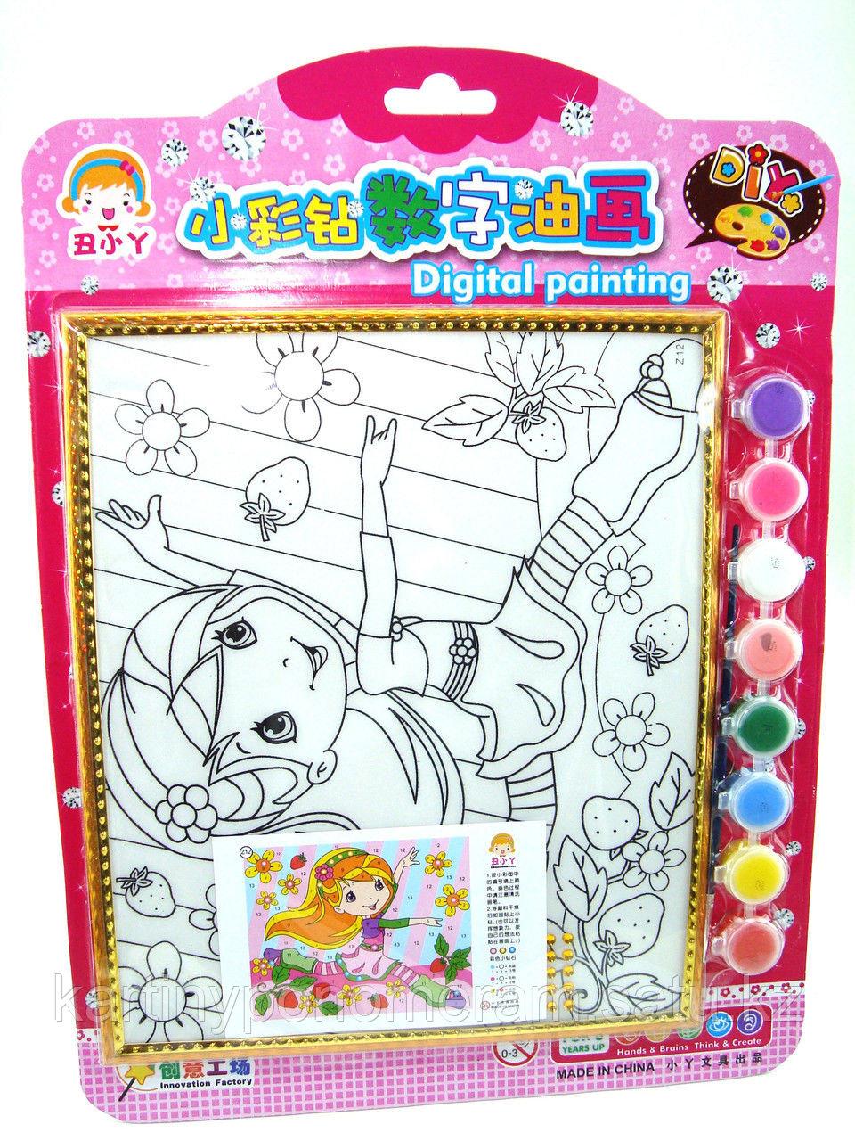 Картины-раскраски для детей , Спортсменка 24x20