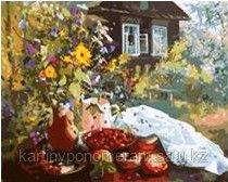 """Картина по номерам """"Дом в саду"""""""