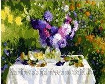 """Картина по номерам """"Фиолетовые хризантемы"""""""