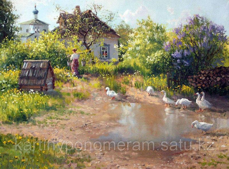 """Картина по номерам """"Птичий двор.В.Жданов"""""""