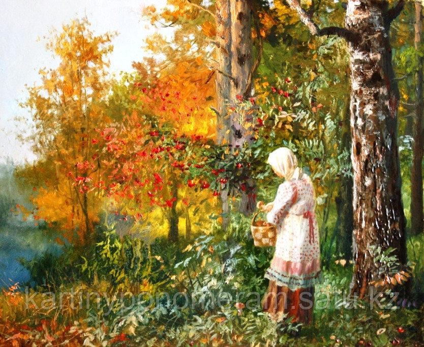"""Картина по номерам """"По ягоды.В.Жданов"""""""