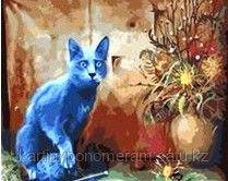 """Картина по номерам """"Дымчатый кот"""""""
