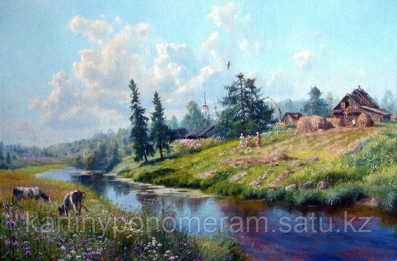 """Картина по номерам """"На склоне горы.В.Жданов"""""""