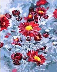 """Картина по номерам """"Хризантемы в снегу"""""""