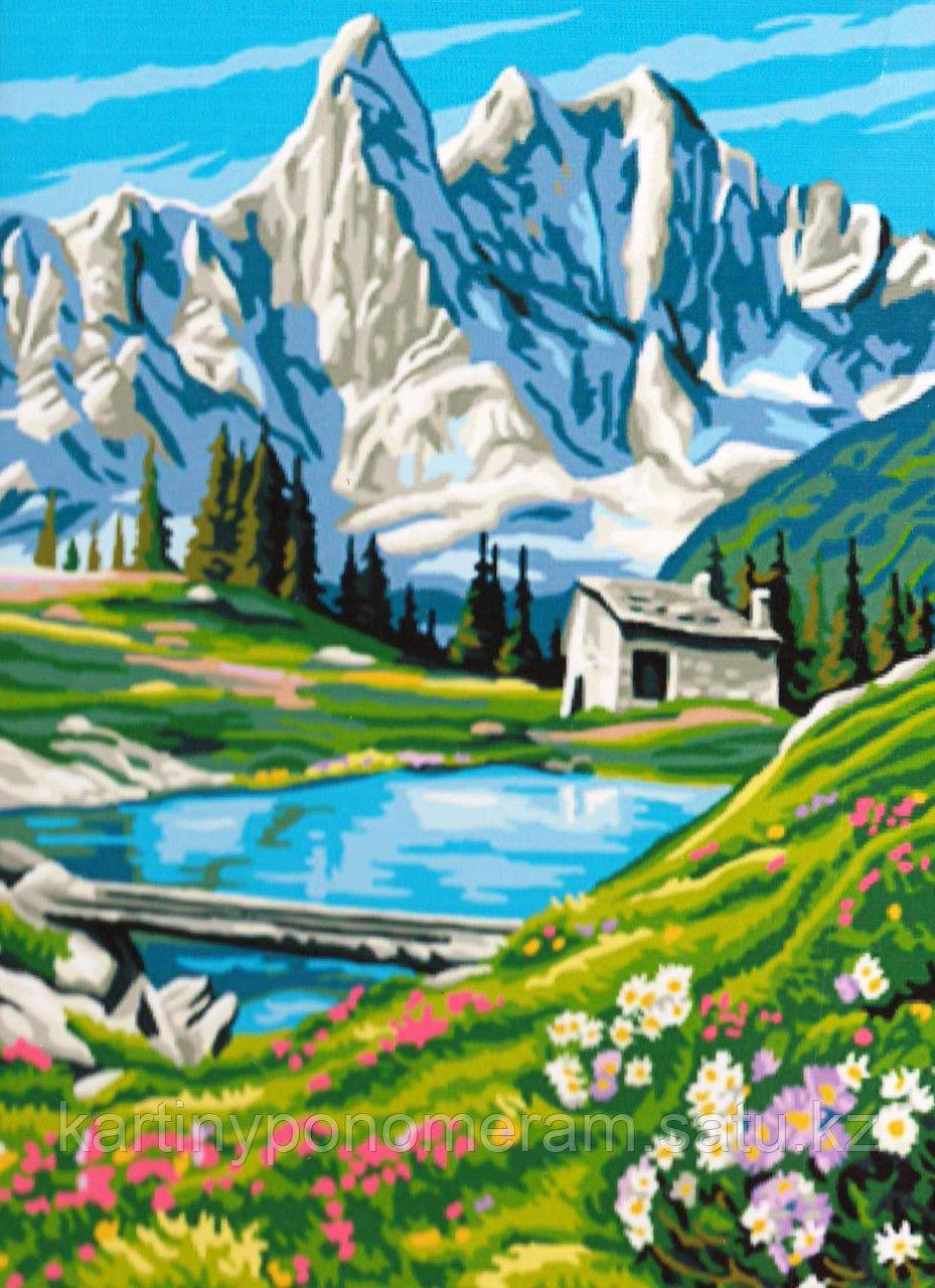 """Картина по номерам """"Снежные склоны"""""""