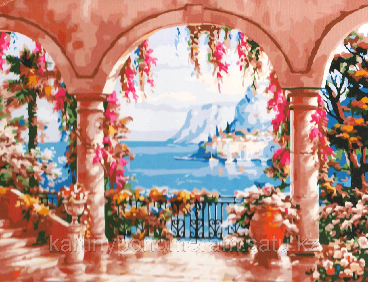 """Картина по номерам """"Дворец с видом на море 3"""""""