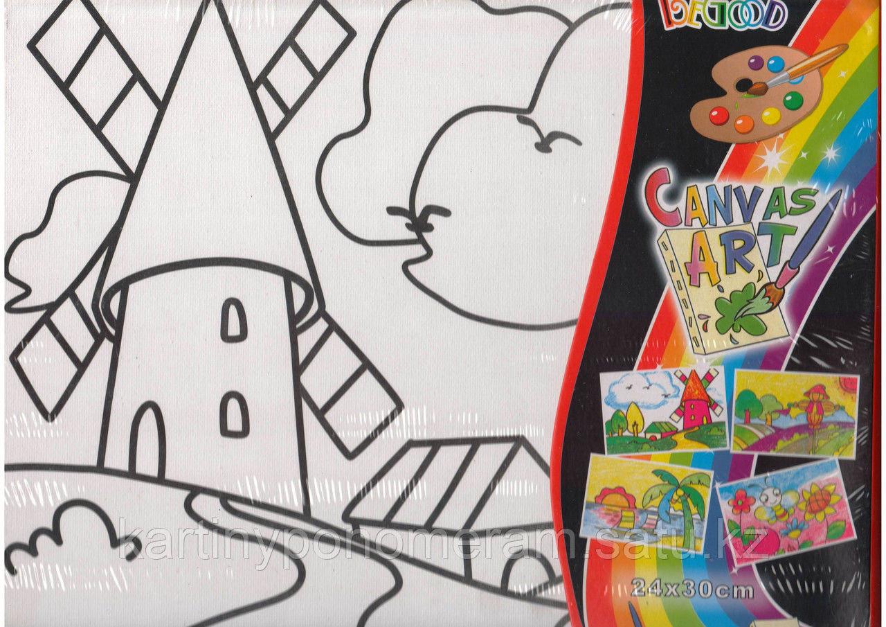 Картины-раскраски для детей Алматы, Мельница 24x30