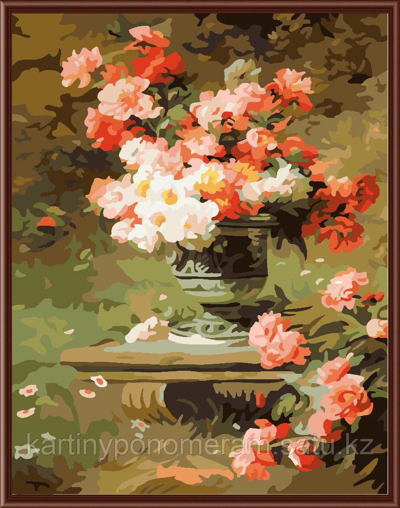 """Картина по номерам """"Вазон с цветами"""""""