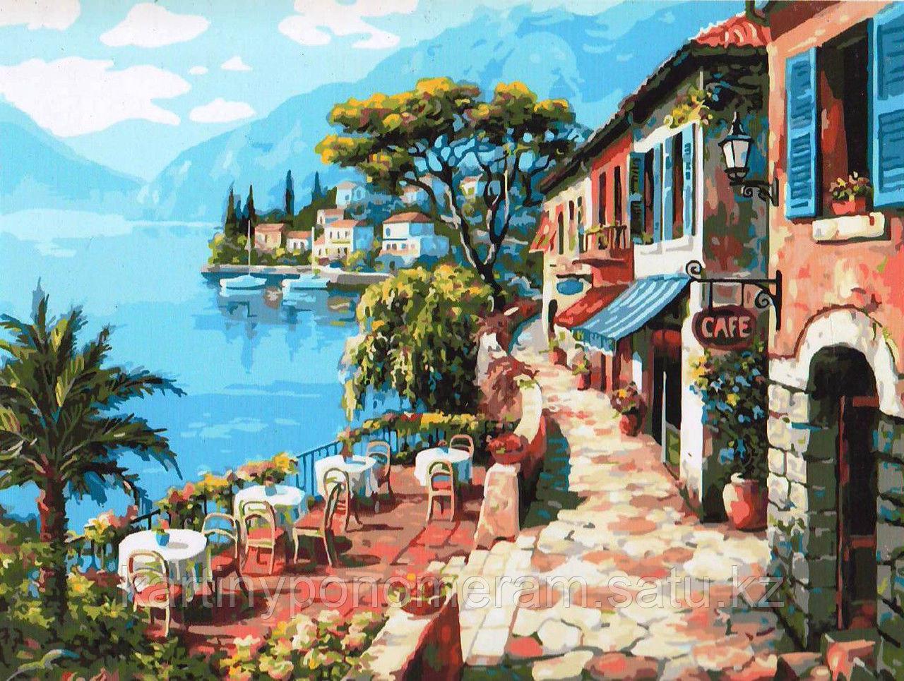 "Картина по номерам ""Кафе на набережной 2"""