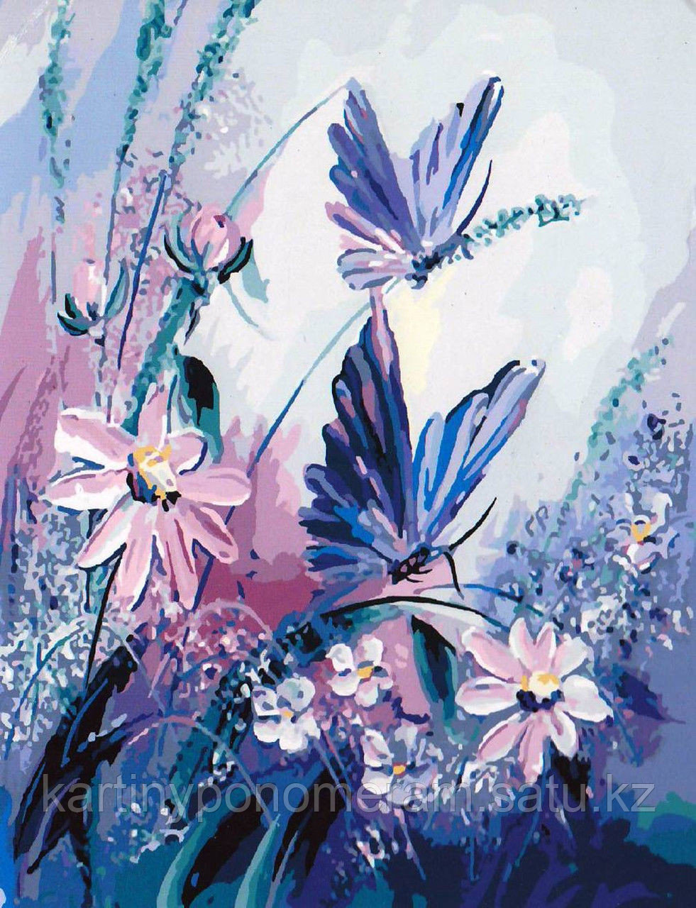 """Картина по номерам """"Голубые бабочки"""""""