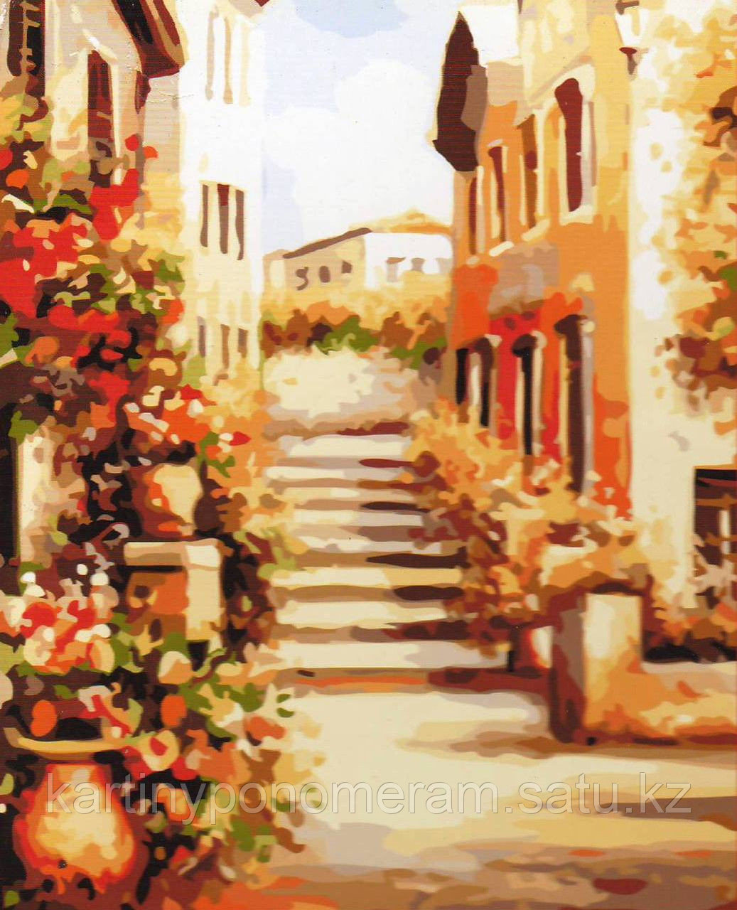 """Картина по номерам """"Солнечная улица"""""""