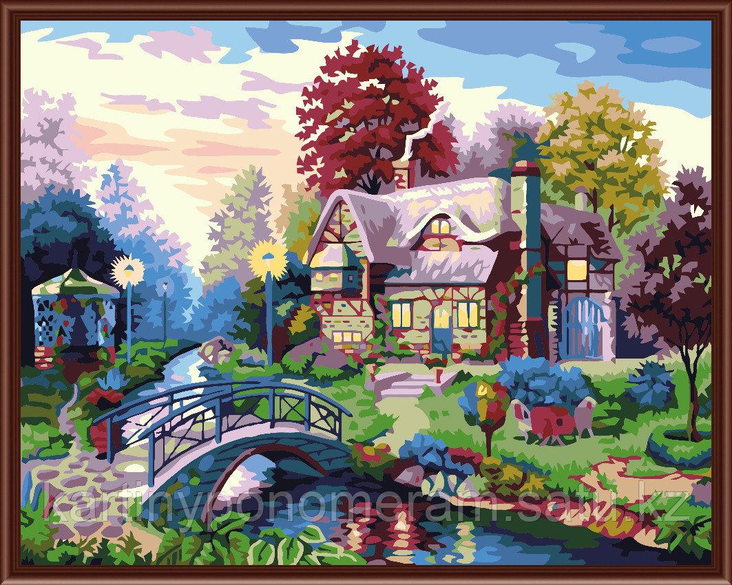 "Картина по номерам - ""Дом с мостиком 40х50"""