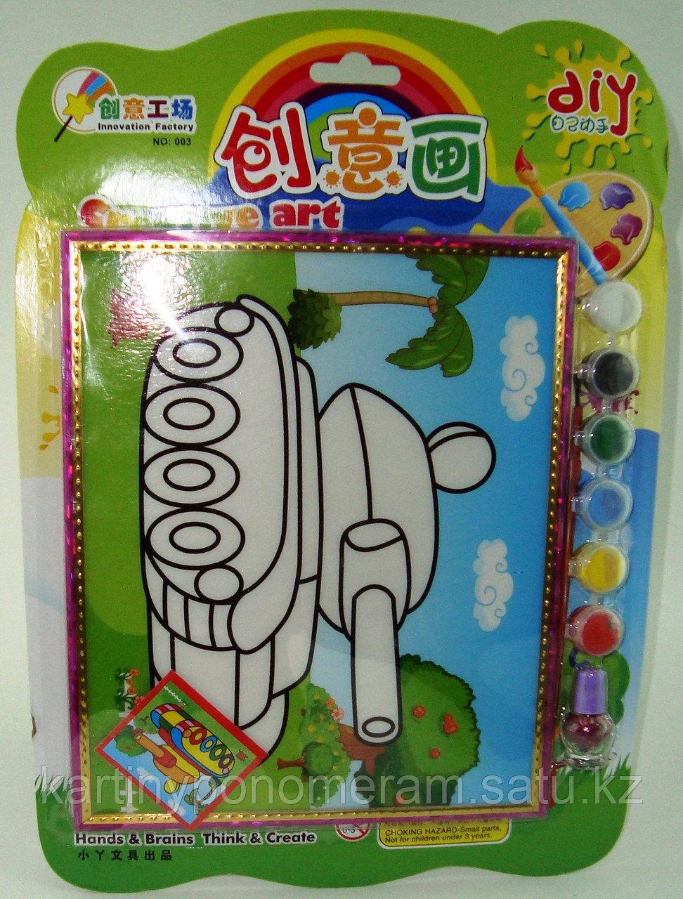 Картины-раскраски для детей 3D, Танк 23x20