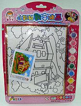 Картины-раскраски для детей , Скворечник у мельницы 24x20