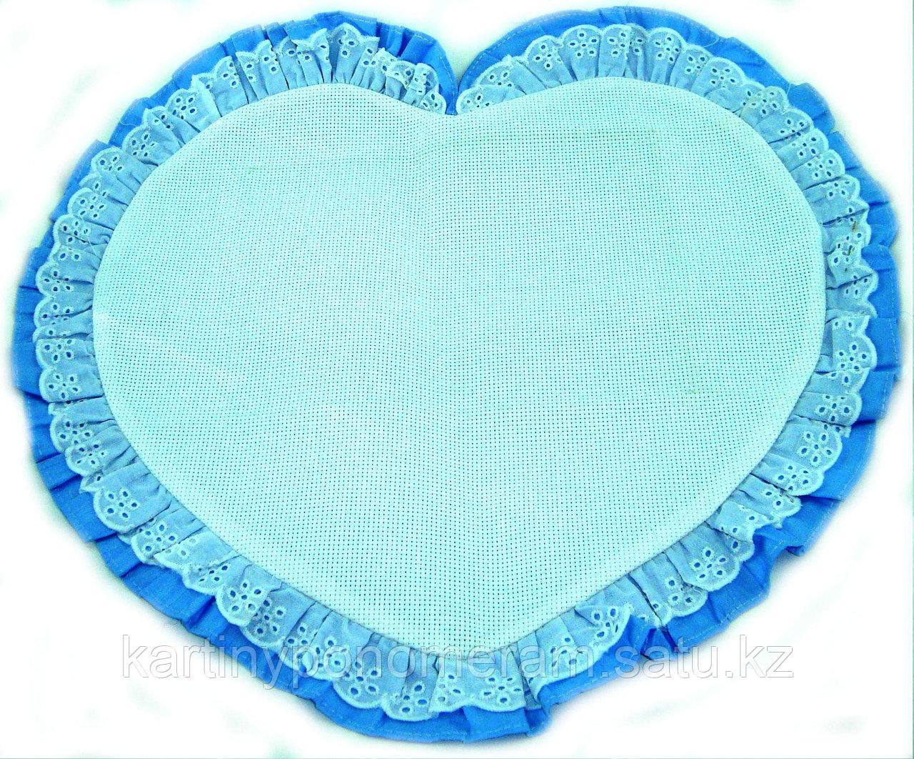Наволочка с канвой для вышивания, голубая