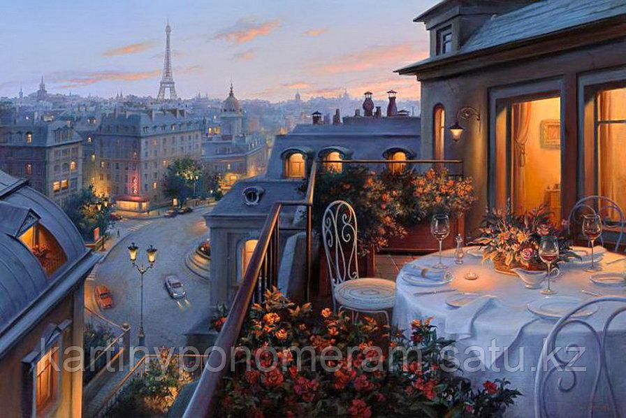 """Картина по номерам """"Ужин на балконе"""""""