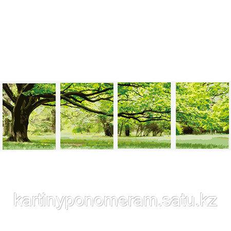 "Картина раскраска ""Зеленое дерево-кватро 50х160см"""
