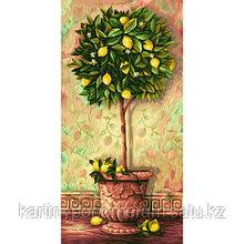 """Картина по номерам """"Лимонное дерево 40х80см"""""""