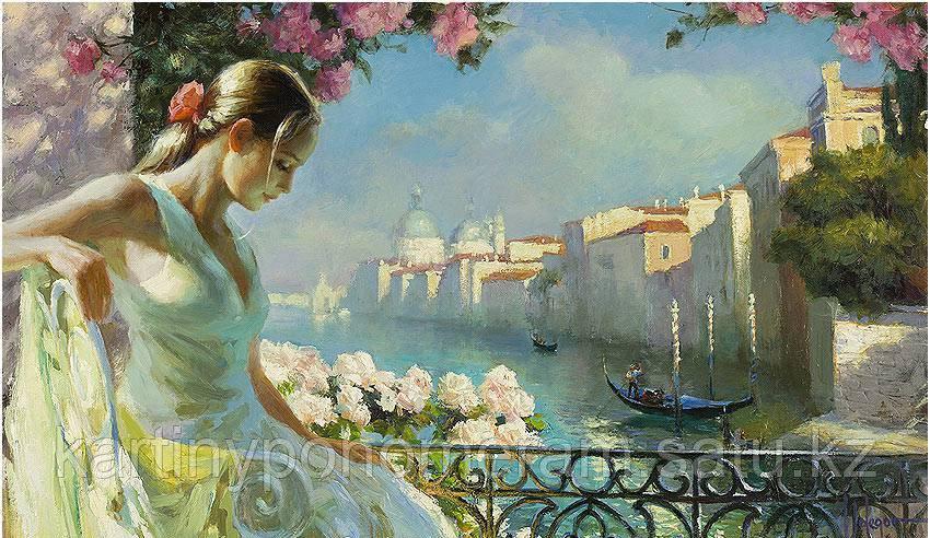 "Картина по номерам ""Красавица на балконе"""