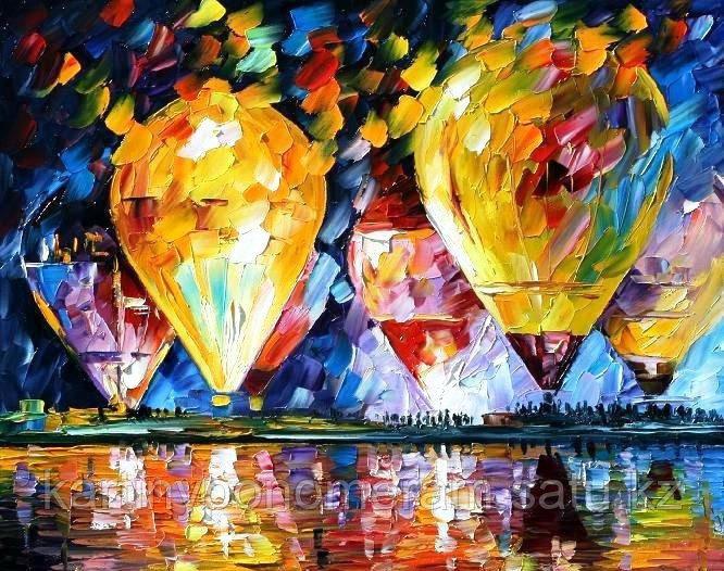 """Картина по номерам """"Воздушные шары. Л.Афремов"""""""