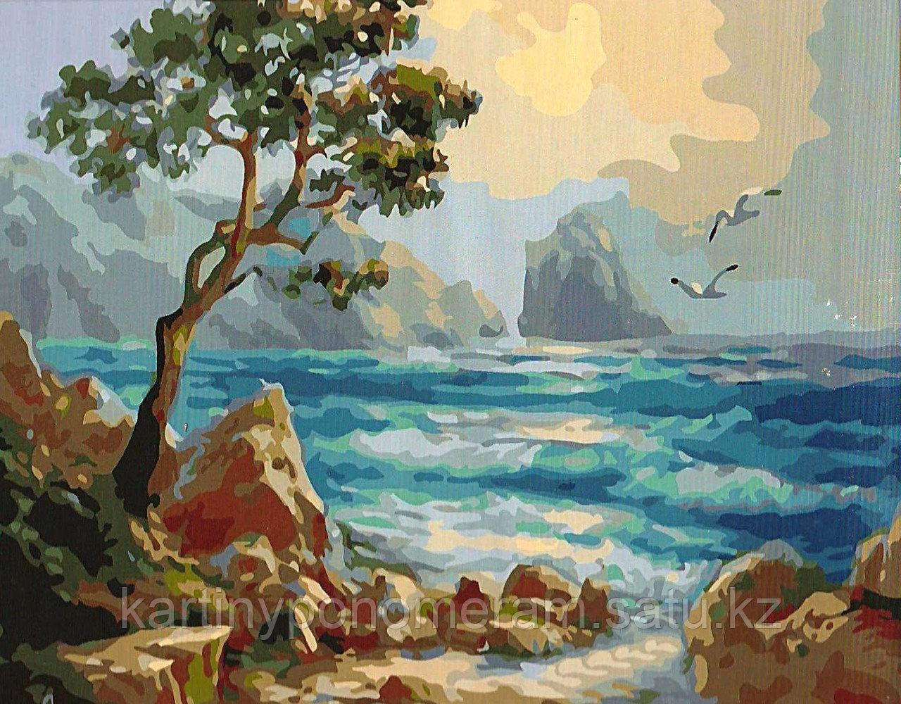 """Картина по номерам """"Неспокойное море"""""""