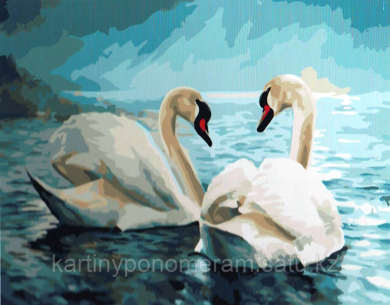 "Картина по номерам ""Лебеди"""