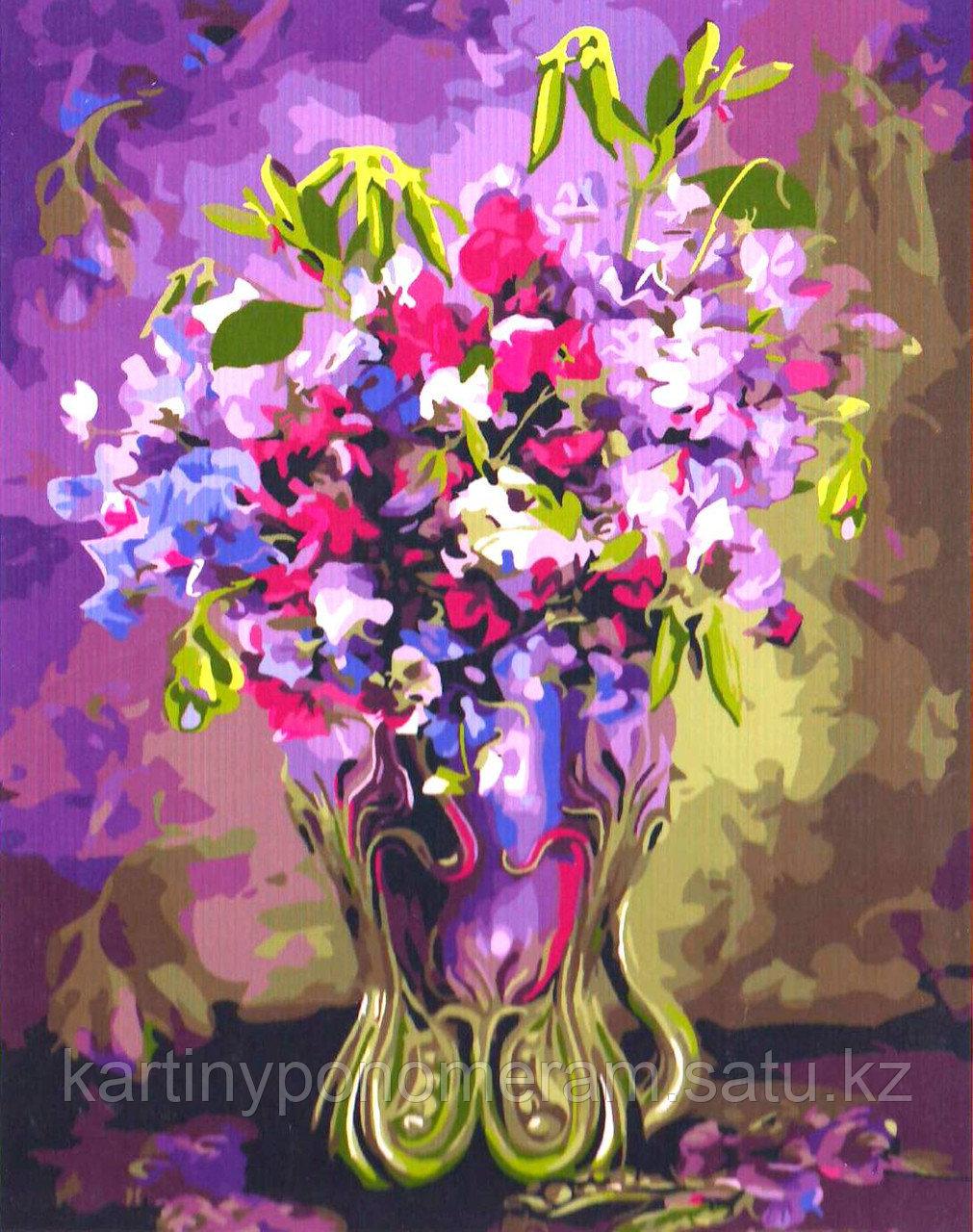 """Картина по номерам """"Цветы горошка"""""""