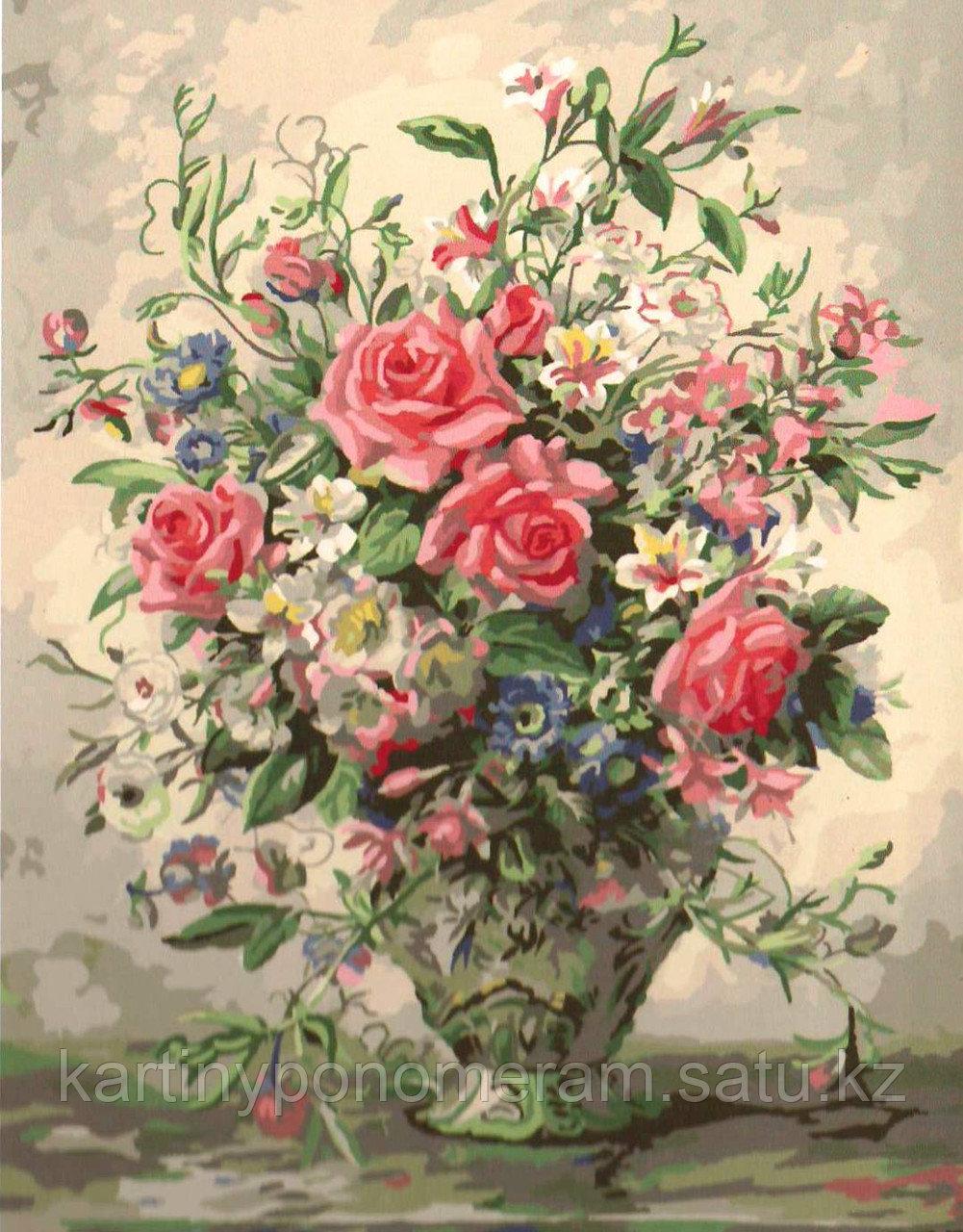 """Картина по номерам """"Букет розовых роз"""""""