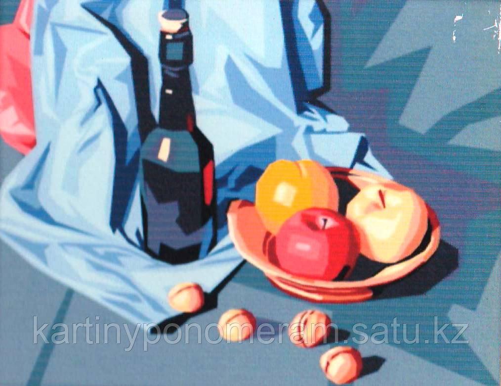 """Картины по номерам """"Натюрморт с яблоками и орехами"""""""