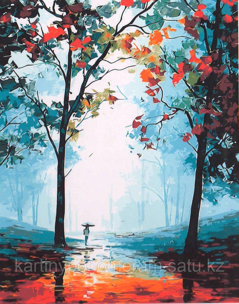 "Картина по номерам ""Туман в лесу. Л.Афремов"""