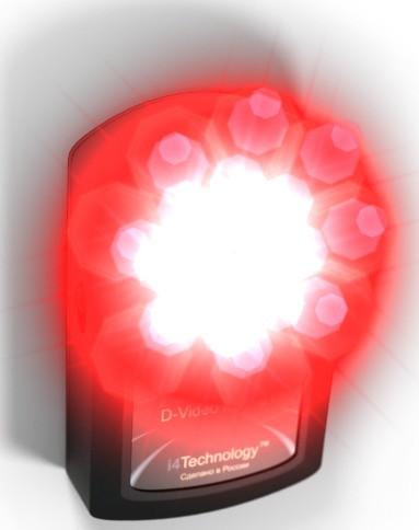 Излучатели обнаружителя скрытых видеокамер BugHunter Dvideo Эконом испускают очень яркий световой поток