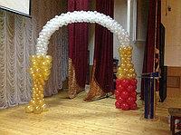 Арка из шаров в виде бутылки шампанского и бокала, фото 1