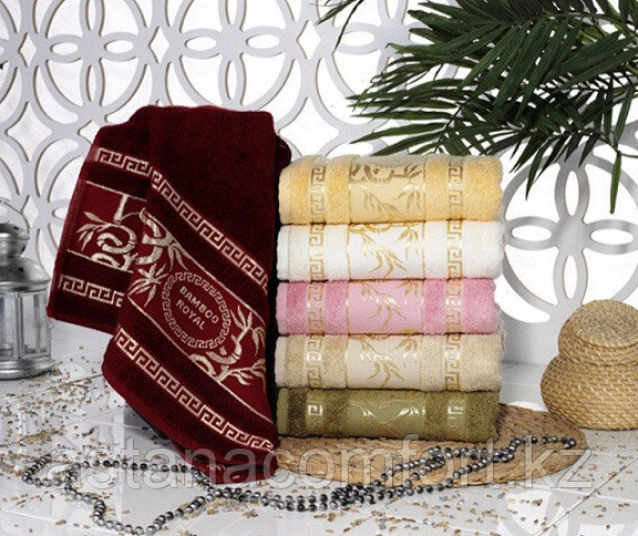 Бамбуковое лицевое полотенце 50*90. Турция.