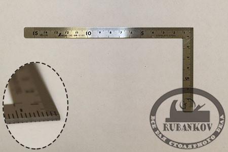 Угольник плоский Shinwa, 150*75мм