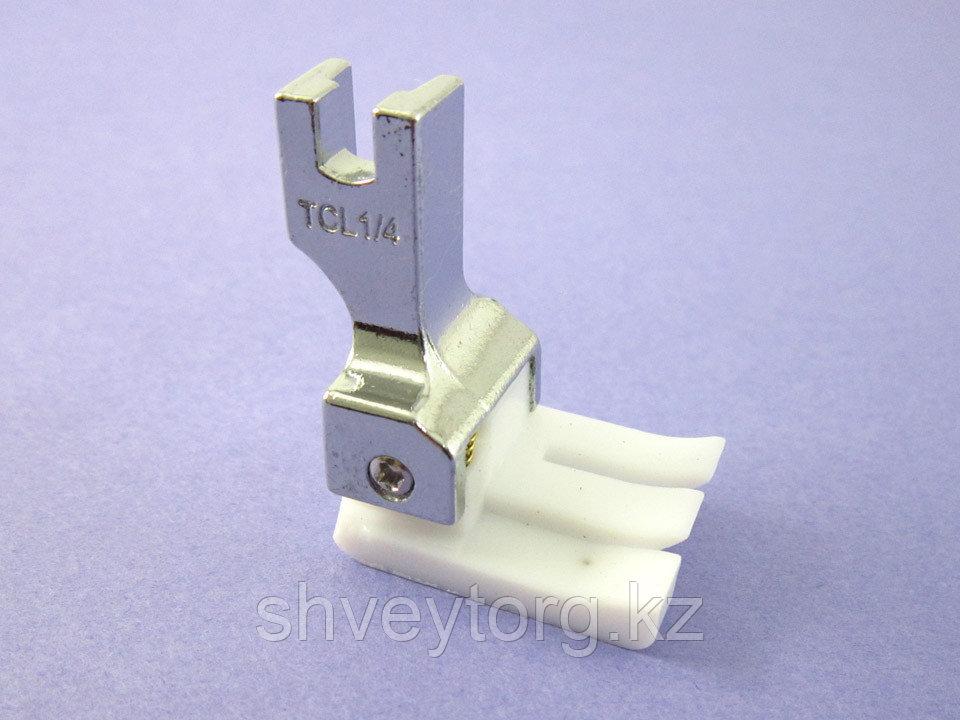 TCL Лапка для отделочных строчек с левым компенсатором, тефлоновая, (TCL)