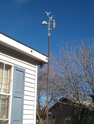 """Беспроводная связь обеспечивает простоту установки датчиков метеостанции """"AW002"""""""