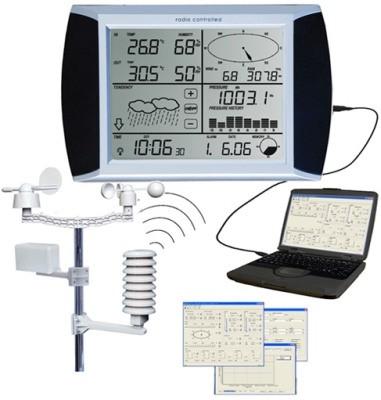 """Метеостанция """"AW002"""" сохраняет получаемые от датчиков погодные данные, которые затем могут быть перенесены в ПК"""
