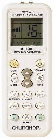 Пульт универсальный для кондиционеров Chungop K-1028E