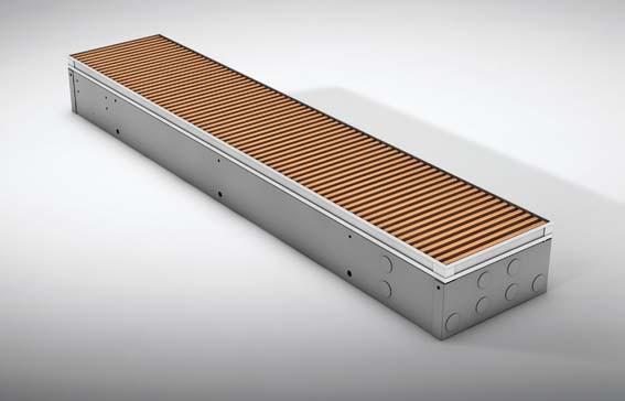Радиатор встраеваемый в пол MINI CANAL (естественная конвекция)