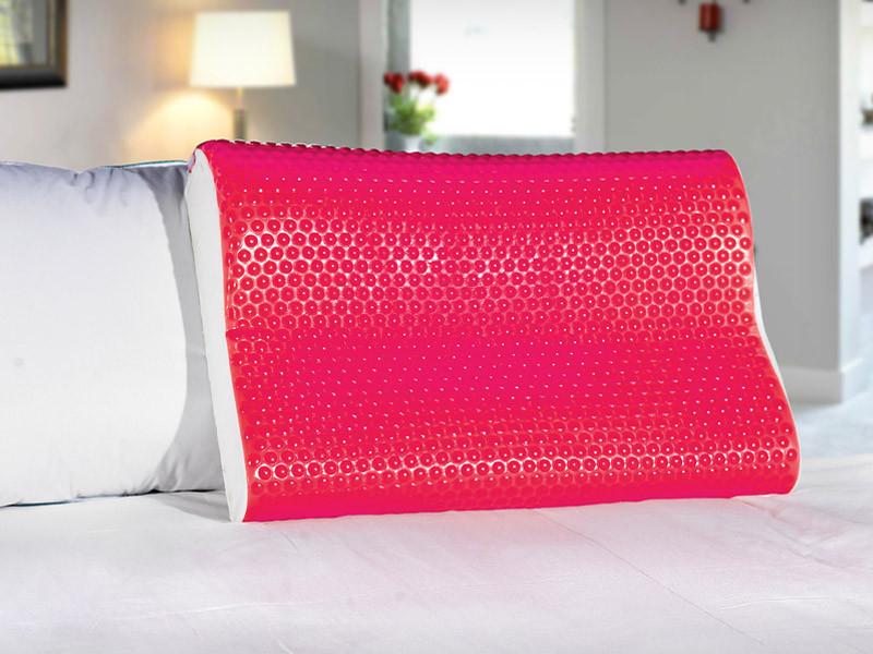 Подушка MemoryForm контурная 40*60*8/11 Pink EcoGel Askona