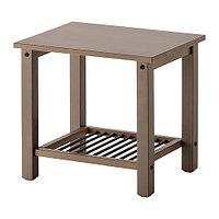 Тумба прикроватная РИКЕНЕ серо-коричневый ИКЕА, IKEA
