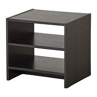 Тумба прикроватная ТОДАЛЕН черно-коричневый ИКЕА, IKEA  , фото 1