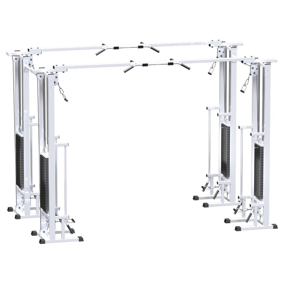 Двойной кроссовер на базе реабилитационной рамы (стек 4х100кг) (стек 4х100кг) (AR082.4х100)